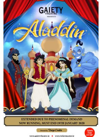 Poster for Aladdin – Gaiety Theatre Panto 2019 – 2020